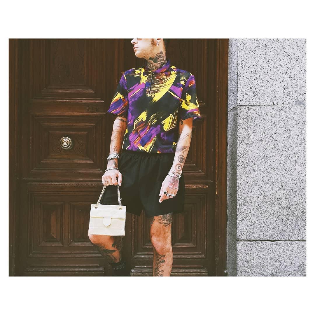 Chico modelo de Underground Moda (tienda de ropa vintage en Madrid)